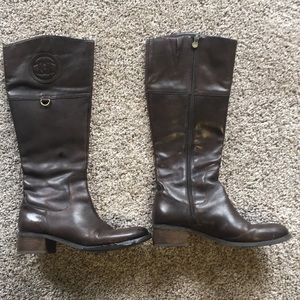 Etienne aigner dark brown leather boots 8.5